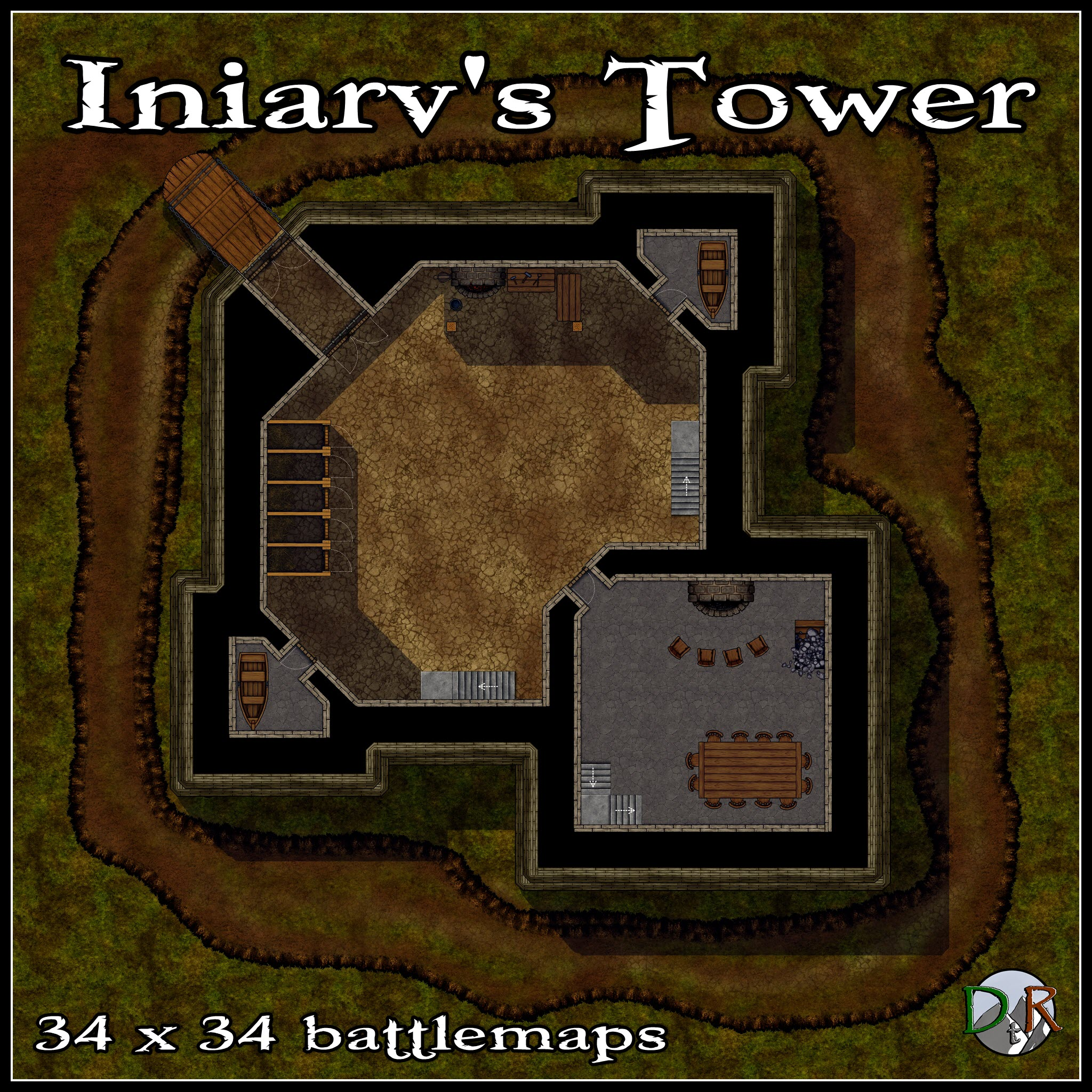 Iniarv's Tower Example battlemap
