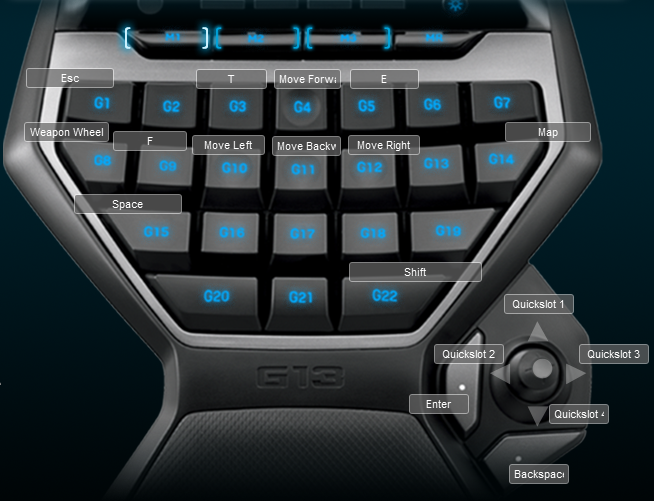 Assassins Creed Brotherhood Logitech G13 Keyboard Profile