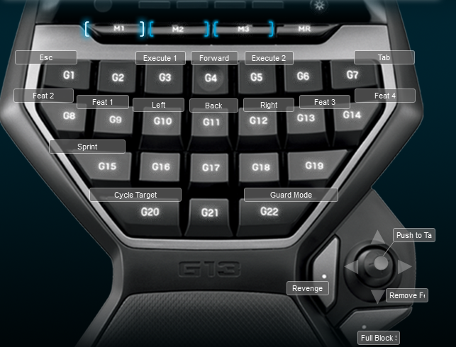 For Honor Logitech G13 Keyboard Profile