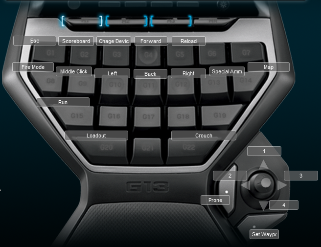 Tom Clancy's Ghost Recon Phantoms Logitech G13 Keyboard Profile