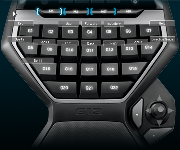 Lichdom Battlemage Logitech G13 Keyboard Profile