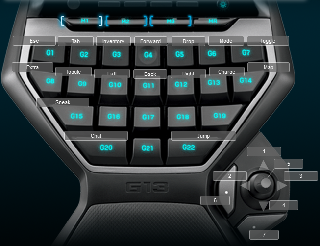 Minecraft Logitech G13 Keyboard Profile