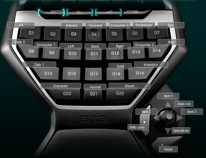 Neverwinter Logitech G13 Keyboard Profile