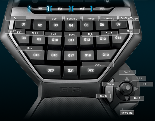 Rust Logitech G13 Keyboard Profile
