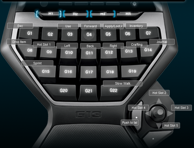 Savage Lands Logitech G13 Keyboard Profile