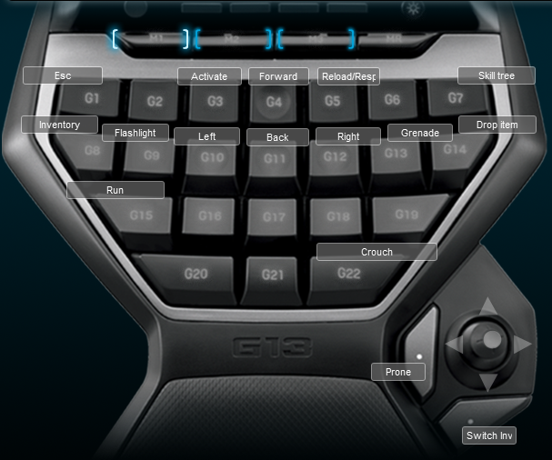starforge logitech g13 keyboard profile