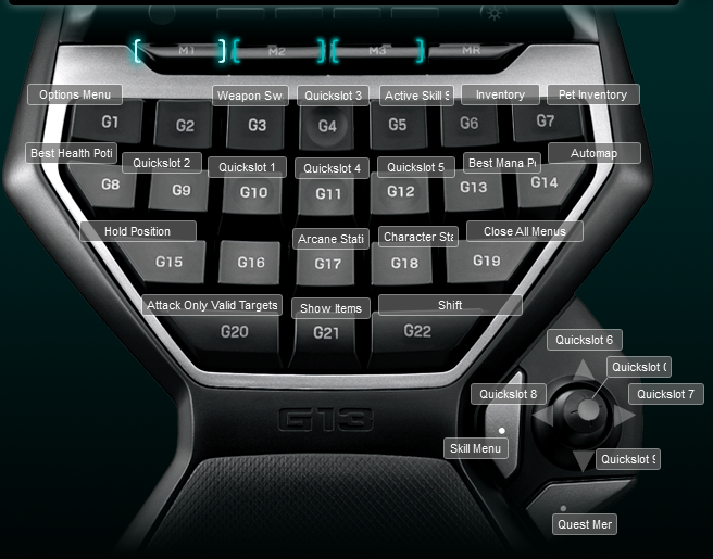 Torchlight 2 Logitech G13 Keyboard Profile